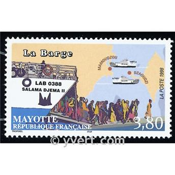 n.o 56 -  Sello Mayotte Correos