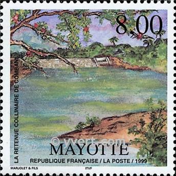n.o 70 -  Sello Mayotte Correos