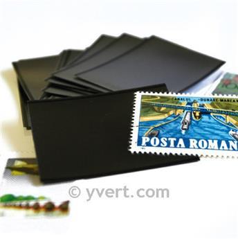 Pochettes double soudure - Lxh:156x41mm (Fond noir)