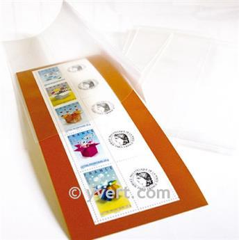 Pochettes double soudure - Lxh:72x245mm (Fond transparent)