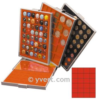 MEDAL CASE: 24 COMPARTMENTS