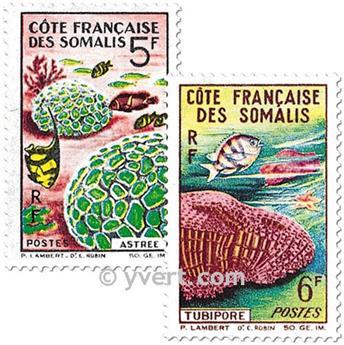 n° 316/317 -  Timbre Cote des Somalis Poste