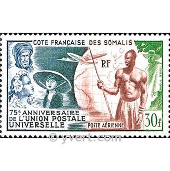 n° 23 -  Selo Somalilândia Francesa Correio aéreo