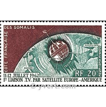 n.o 33 -  Sello Somalia francesa Correo aéreo