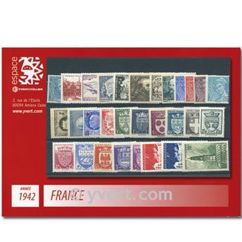 n° 538/567  - Selo França Ano completo  (1942)