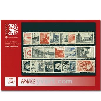 n° 772/792  - Selo França Ano completo  (1947)