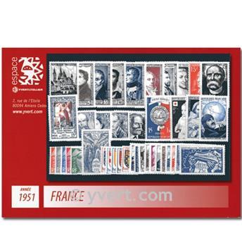 n° 878/918  - Sello Francia Año completo  (1951)