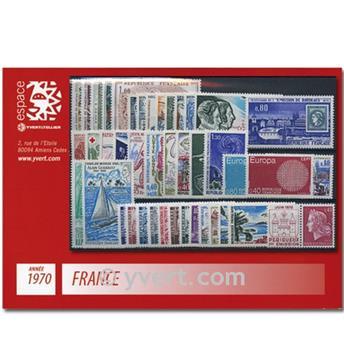n° 1621/1662  - Stamp France Year set  (1970)