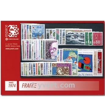 n° 1783/1829  - Selo França Ano completo  (1974)