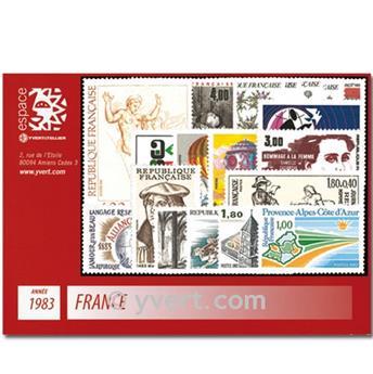 n° 2252/2298  - Timbre France Année complète  (1983)