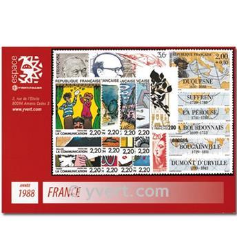 n° 2501/2559  - Selo França Ano completo  (1988)