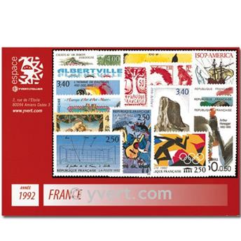 n° 2736/2784  - Selo França Ano completo  (1992)