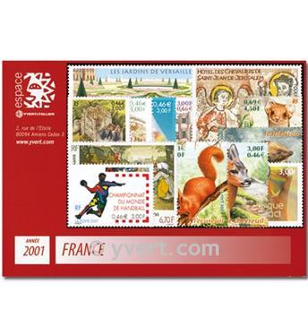 n° 3367/3442  - Timbre France Année complète  (2001)