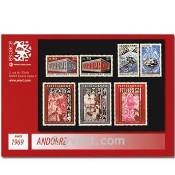 n° 194/200 -  Selo Andorra Ano completo (1969)
