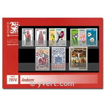 n.o 234/242 -  Sello Andorra Año completo (1974)