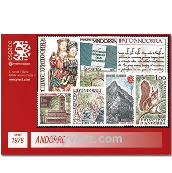 nr. 267/273 -  Stamp Andorra Year set (1978)