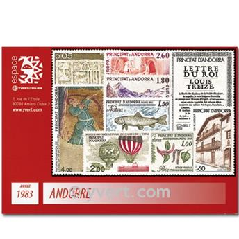 n° 310/326 -  Timbre Andorre Année complète (1983)