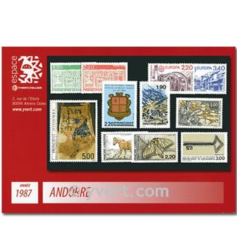 n° 355/365 -  Selo Andorra Ano completo (1987)