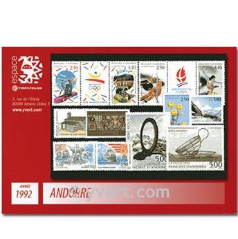 n° 414A/424 -  Selo Andorra Ano completo (1992)