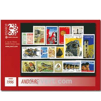n.o 467/483 -  Sello Andorra Año completo (1996)