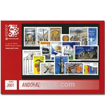 n° 540/554 -  Selo Andorra Ano completo (2001)