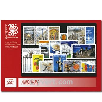 n.o 540/554 -  Sello Andorra Año completo (2001)