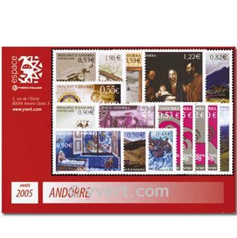 n.o 604/619 -  Sello Andorra Año completo (2005)