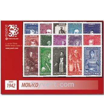 n.o 234 / 248 -  Sello Mónaco Año completo (1942)