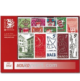 n.o 397 / 411 -  Sello Mónaco Año completo (1954)