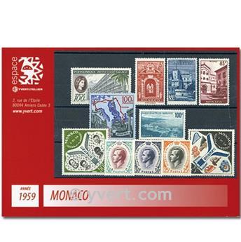 n.º 503 / 522 -  Sello Mónaco Año completo (1959)
