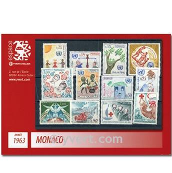 n° 599/635 -  Selo Mónaco Ano completo (1963)
