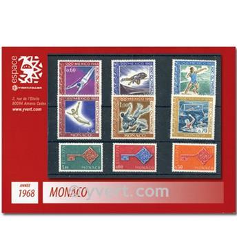 n.o 736 / 771 -  Sello Mónaco Año completo (1968)