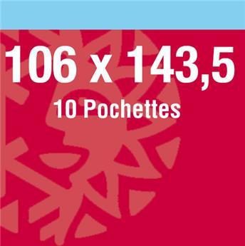 Pochettes double soudure - Lxh:106x143.5 mm (Fond noir)