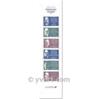 nr. BC2460 -  Stamp France Famous Figures Booklet panes