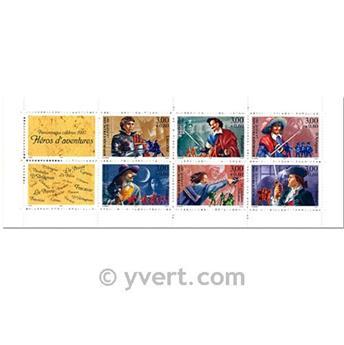 n° BC3121 -  Timbre France Carnet Personnages célèbres