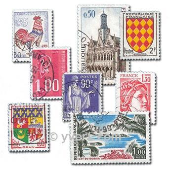 FRANCE : pochette de 600 timbres
