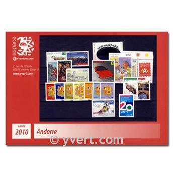 n.o 681 / 703 -  Sello Andorra Año completo (2010)
