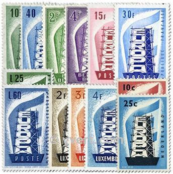 1956** - Année complète neuf EUROPA