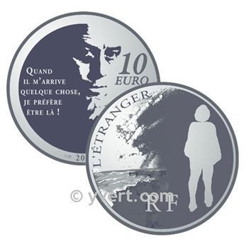 10 EUROS PRATA - França - L´ETRANGER