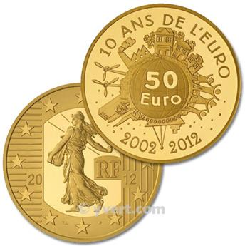 BE : 50 EUROS OR -  FRANCE 2012 - SEMEUSE