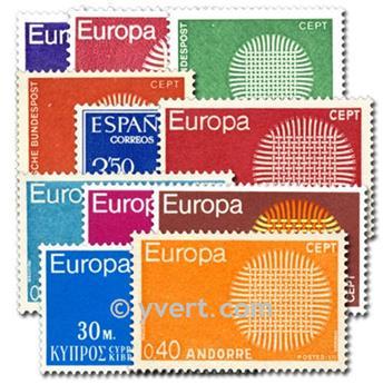 1970** - Année complète neuf EUROPA