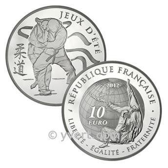 10 EUROS PRATA - França - Jogos Olímpicos de Verão (2012)