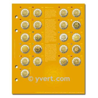 2€ COMMEMORATIVES Inserts (2012 - 10 years of EURO)