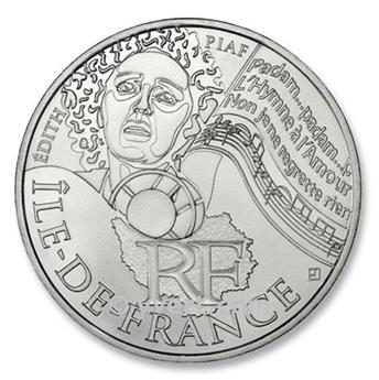 10 € DAS REGIÕES -  Ile de França - 2012