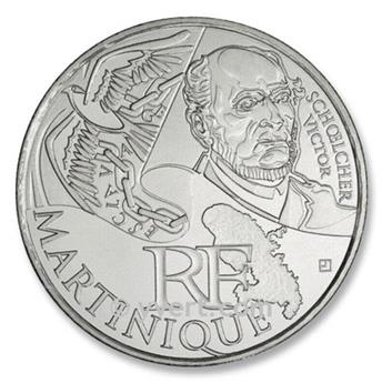 10€ DES REGIONS - Martinique - 2012