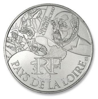 10 € DE LAS REGIONES - Pays de la Loire - 2012