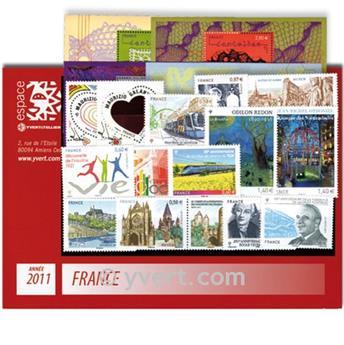n° 4528/4630  - Timbre France Année complète  (2011)