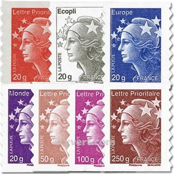 nr. 590/596 -  Stamp France Self-adhesive