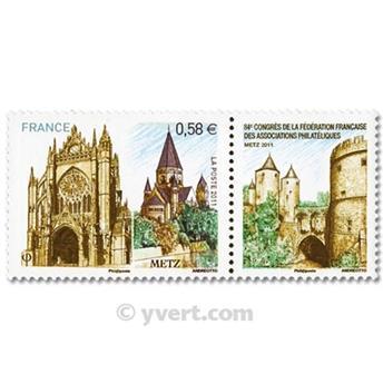 n.o 4554 -  Sello Francia Correos