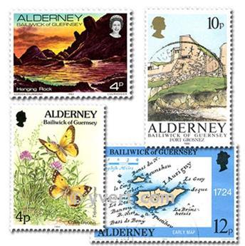 ALDERNEY: lote de 25 selos
